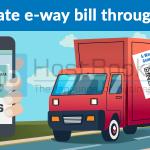 Generate e-way bill through sms