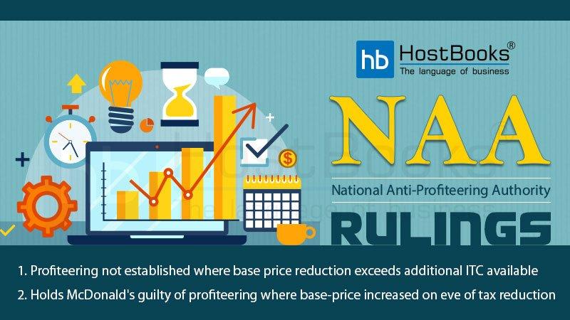 National Anti-Profiteering Authority Rulings