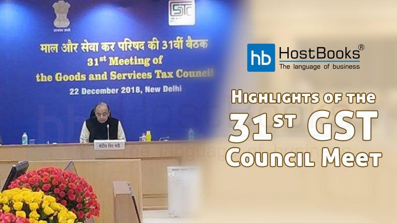 31st GST Council Meet