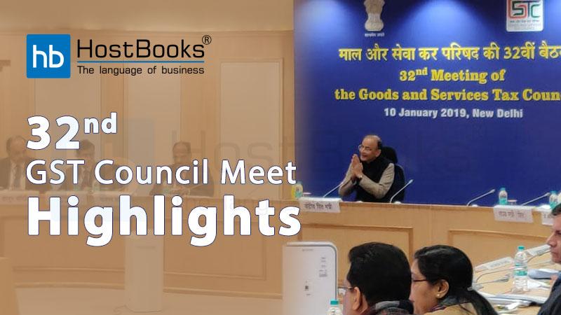 32 gst council meet
